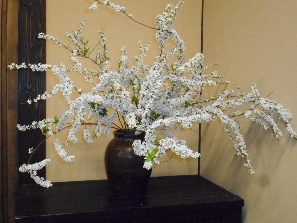 ユキヤナギの生け花