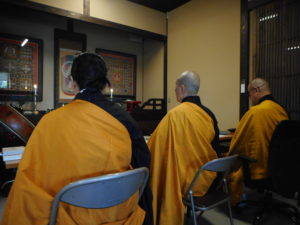 山路天酬密教私塾の風景 あさか大師で3名の方に伝授しているところ